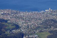 Hobart vom Mt Wellington