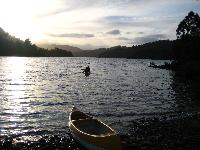 Canoeing Lake Rosebery